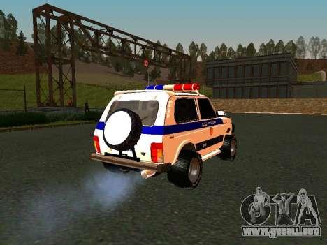 VAZ 212140 policía para visión interna GTA San Andreas