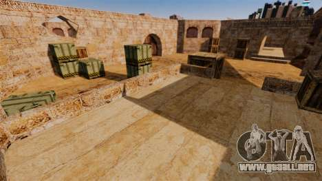 Ubicación del counter-strike De_Dust2 para GTA 4 adelante de pantalla