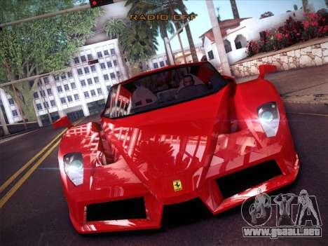 Ferrari Enzo 2003 para visión interna GTA San Andreas