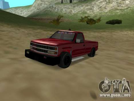 Chevrolet Silverado ATTF para visión interna GTA San Andreas