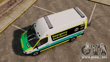 Mercedes-Benz Sprinter Australian Ambulance ELS para GTA 4 visión correcta