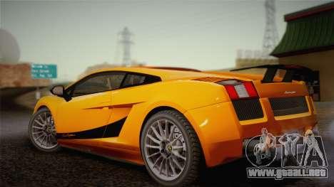 Lamborghini Gallardo Superleggera para la vista superior GTA San Andreas