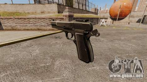 Carga automática Pistola Browning Hi-Power para GTA 4 segundos de pantalla