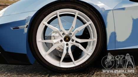 Lamborghini Aventador LP700-4 LE-C 2014 para GTA 4 vista hacia atrás