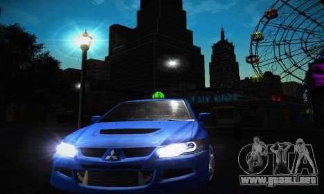Mitsubishi Lancer Evo IX para la visión correcta GTA San Andreas