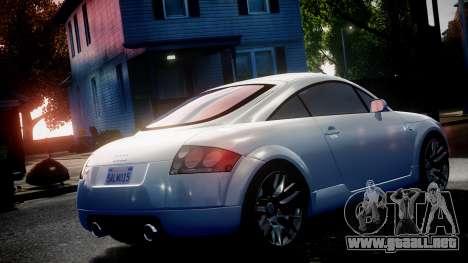 Audi TT Coupe 3.2 Quattro 2004 para GTA 4 visión correcta