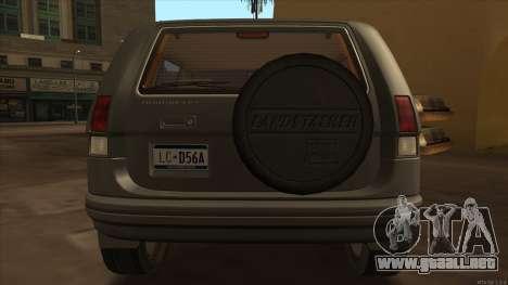 Landstalker HD from GTA 3 para la visión correcta GTA San Andreas