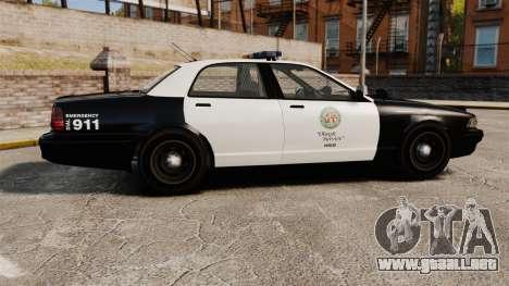 GTA V Police Cruiser [ELS] para GTA 4 left