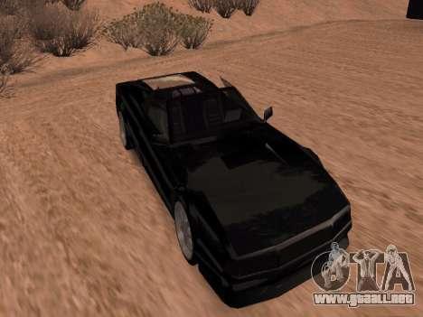 Sheetah Restyle para GTA San Andreas vista posterior izquierda