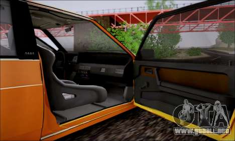VAZ 21083 baja Classic para la vista superior GTA San Andreas