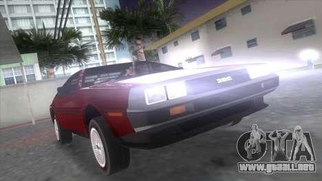 Delorean DMC para GTA Vice City left