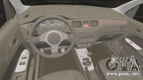 Mitsubitsi Lancer MR Evolution VIII 2004 Stock para GTA 4 vista interior