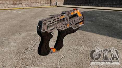 Pistola Mass Effect v2 para GTA 4 segundos de pantalla