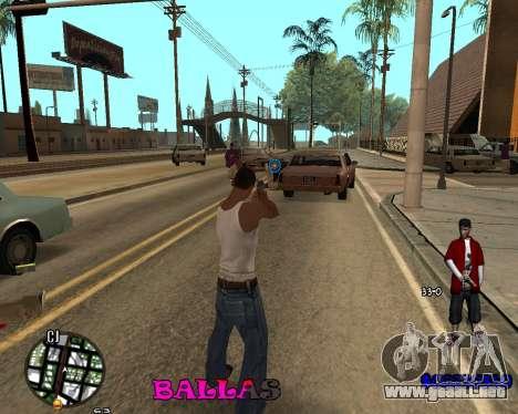 HUD The Ballas By Santiago para GTA San Andreas segunda pantalla