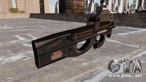 Subfusil P90 para GTA 4 segundos de pantalla