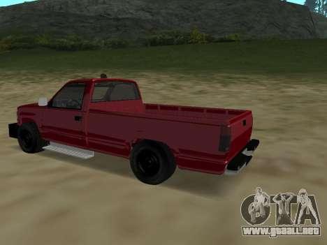 Chevrolet Silverado ATTF para GTA San Andreas vista hacia atrás