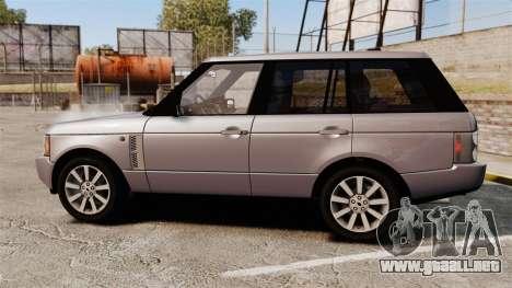 Range Rover Supercharged para GTA 4 left