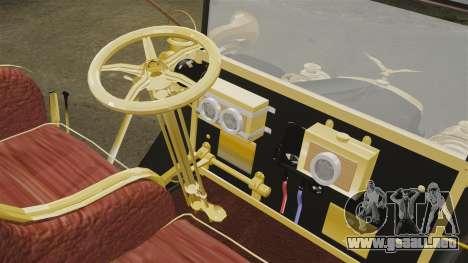 Coches de época 1910 para GTA 4 vista interior
