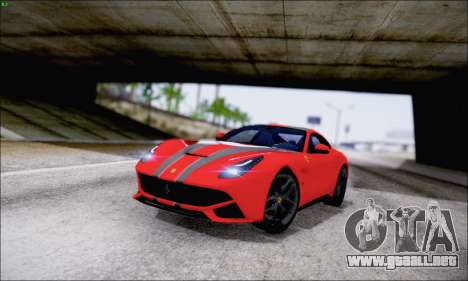Ferrari F12 Berlinetta Horizon Wheels para la vista superior GTA San Andreas