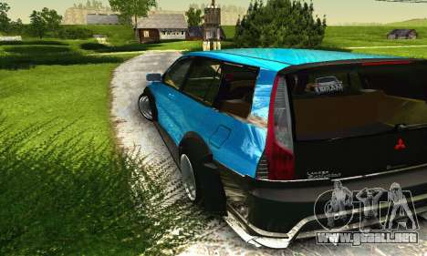 Mitsubishi Evo IX Wagon S-Tuning para vista inferior GTA San Andreas