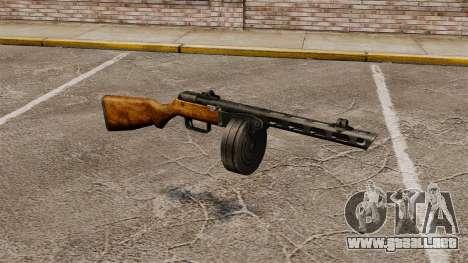 Špagina subfusil ametrallador, 1941 para GTA 4