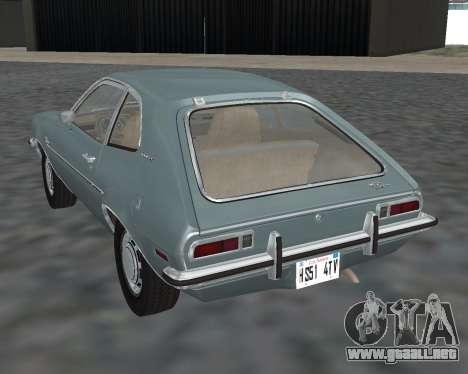 Ford Pinto 1973 para GTA San Andreas left