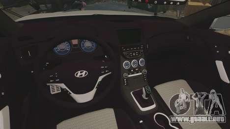 Hyundai Genesis Coupe 2013 para GTA 4 vista interior