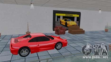 Salón del automóvil de Ferrari para GTA 4 sexto de pantalla