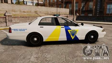 GTA V Police Vapid Cruiser Alderney state para GTA 4 left
