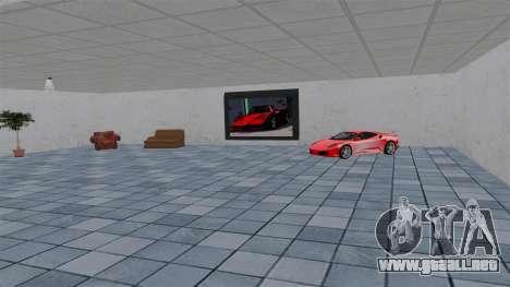 Salón del automóvil de Ferrari para GTA 4 adelante de pantalla