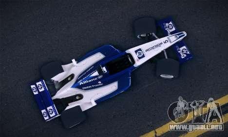 BMW Williams F1 para GTA San Andreas vista posterior izquierda