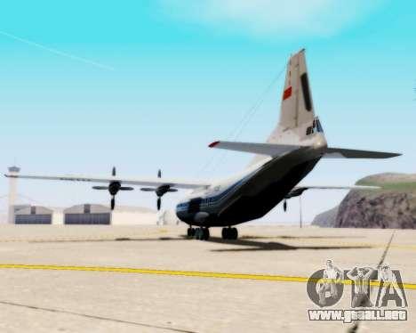 El an-12 Aeroflot para GTA San Andreas left
