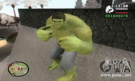 Hulk para GTA San Andreas tercera pantalla