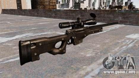 Rifle de francotirador AI AWM para GTA 4 segundos de pantalla