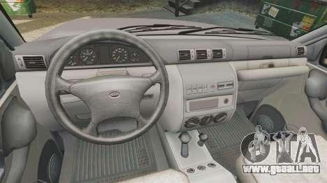 UAZ Patriot para GTA 4 vista interior