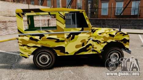 Land Rover Defender Antiguo para GTA 4 left