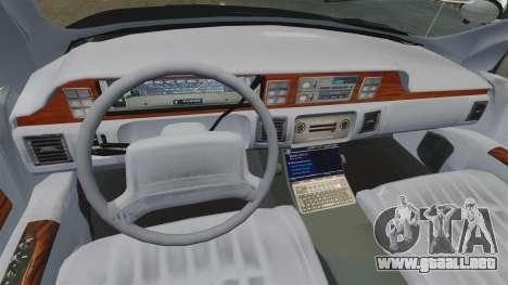 Chevrolet Caprice Police 1991 v2.0 LCPD para GTA 4 vista lateral