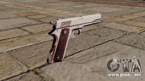 Pistola Colt M1911 45 para GTA 4 segundos de pantalla