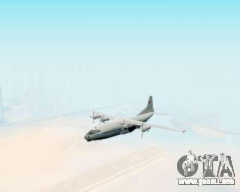 El an-12 Aeroflot para la visión correcta GTA San Andreas