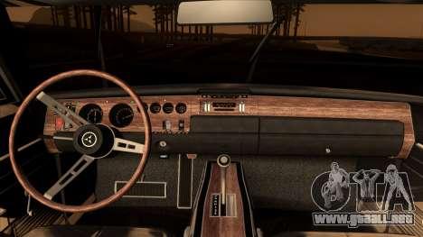Dodge Charger 440 (XS29) 1970 para la visión correcta GTA San Andreas