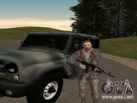 Viktor Reznov para GTA San Andreas sucesivamente de pantalla
