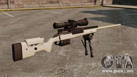 Rifle de francotirador McMillan TAC-300 para GTA 4 segundos de pantalla