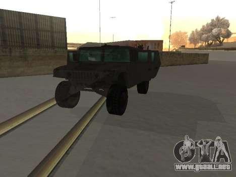 Hummer H1 del juego Resident Evil 5 para visión interna GTA San Andreas