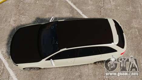 Audi RS4 Avant VVS-CV4 2013 para GTA 4 visión correcta
