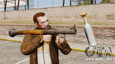 Lanzagranadas antitanque, Molotov para GTA 4 segundos de pantalla