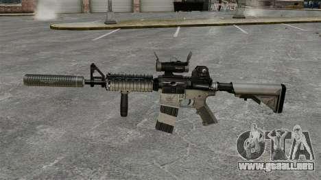 Carabina M4 con silenciador v2 para GTA 4 tercera pantalla