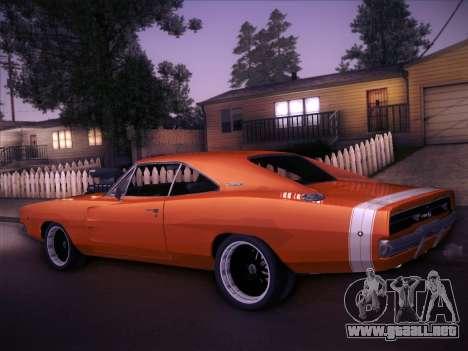 Dodge Charger RT V2 para GTA San Andreas vista posterior izquierda