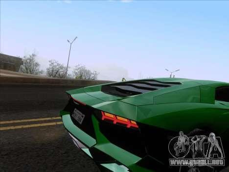 Lamborghini Aventador LP720-4 2013 para vista inferior GTA San Andreas