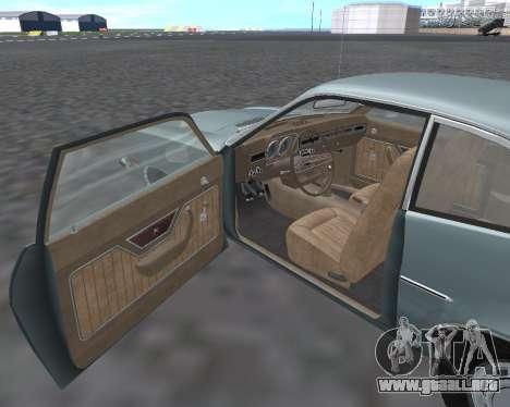 Ford Pinto 1973 para visión interna GTA San Andreas