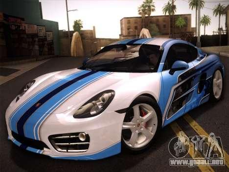Porsche Cayman S 2014 para vista lateral GTA San Andreas